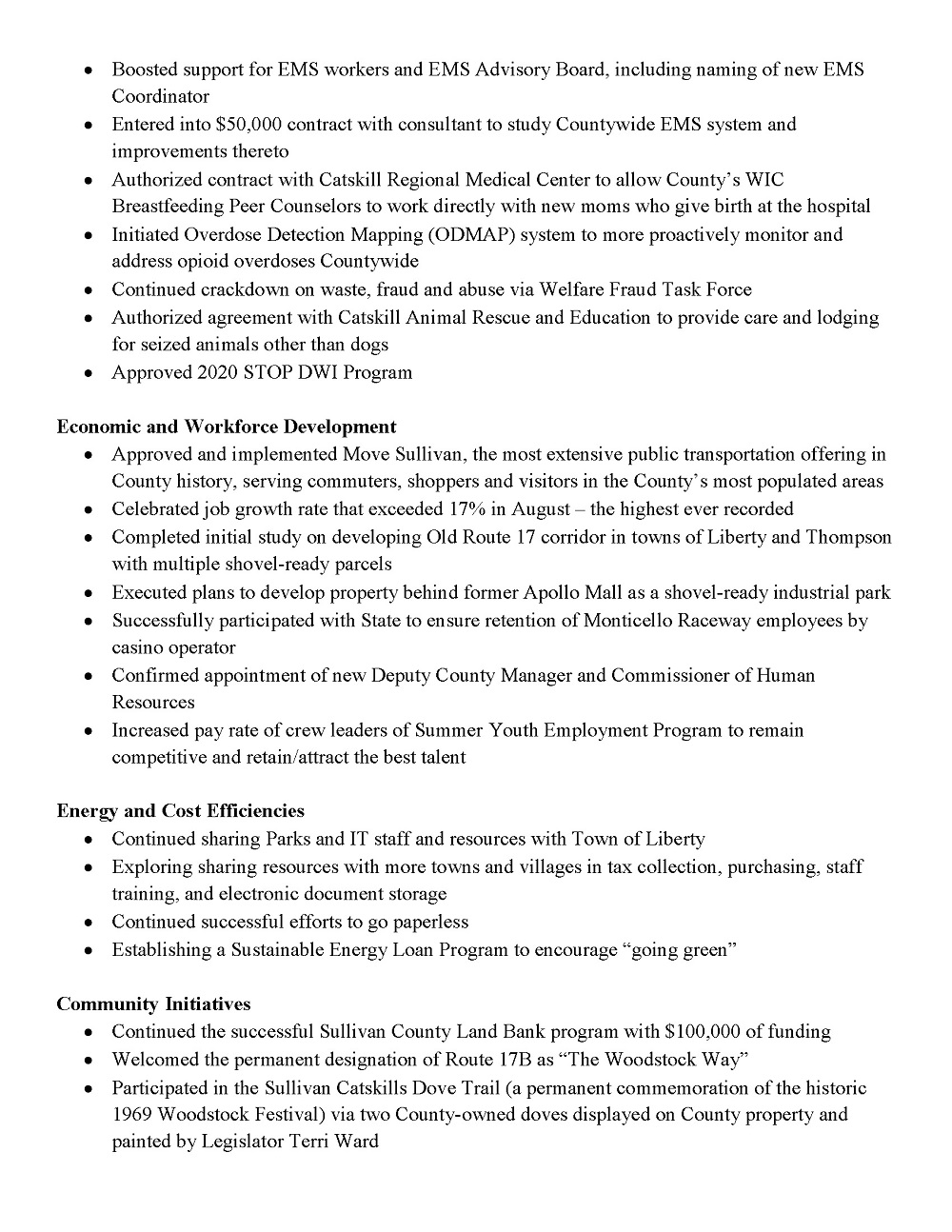 2019 Legislature Accomplishments Page 3