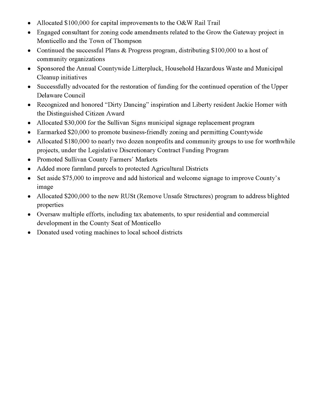 2019 Legislature Accomplishments Page 4